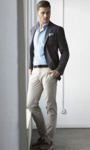 oxford πουκάμισο με chinos παντελόνι και blazer