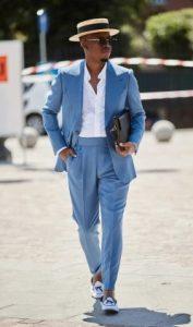 oxford πουκάμισο με γαλάζιο semi-casual κοστούμι
