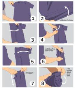 τρόποι διπλώματος μπλούζας