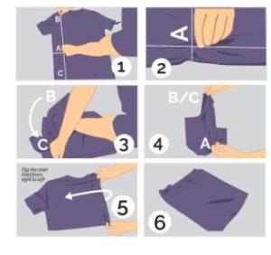 τρόποι διπλώματος αντρικού t-shirt