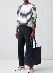 wide-leg μπλε παντελόνι