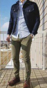 αντρική μοντέρνα εμφάνιση με αντρικό chino παντελόνι