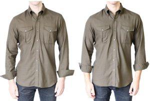 διπλωμένα μανίκια πουκάμισου