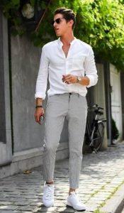 γκρι cxino παντελόνι
