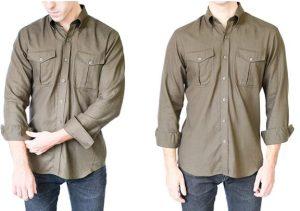μοντέρνος τρόπος διπλώματος ενός αντρικού πουκαμίσου