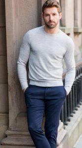 μπλε σκούρο παντελόνι chino για άντρες