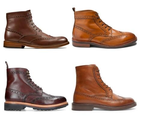 διάφορες brogue μπότες