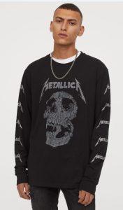 casual ανδρικό ντύσιμο μπλούζα metallica