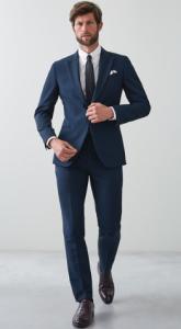 tailored παντελόνι με κοστούμι και παπούτσια derbies