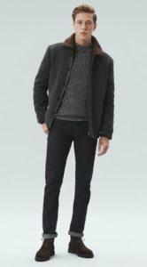 σκούρες καφέ deserrt μπότες με casual outfit
