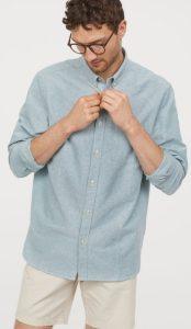 γαλάζιο ανδρικό πουκάμισο χειμώνας