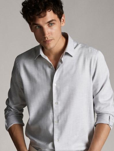 γκρι lim-fit πουκάμισο