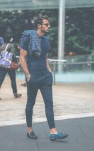 jogger παντελόνι με μοκασίνια