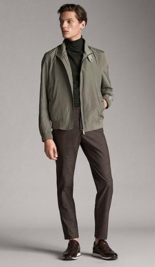 καφέ-γκρι jacket υφασμάτινο