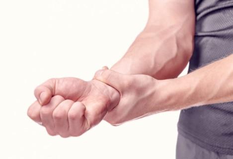 κάμψεις-πόνοι στην περιοχή των καρπών του χεριού