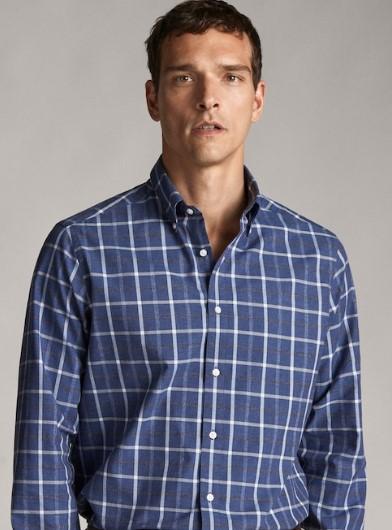 καρό πουκάμισο regular-fit