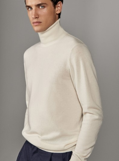 λευκή μπλούζα ζιβάγκο από κασμίρ
