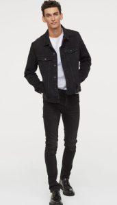 μαύρο ανδρικό στενό jean