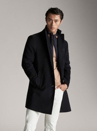 σκούρο μπλε βελουτέ παλτό