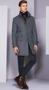 σκούρες μπορντό brogue μπότες με semi-formal outfit