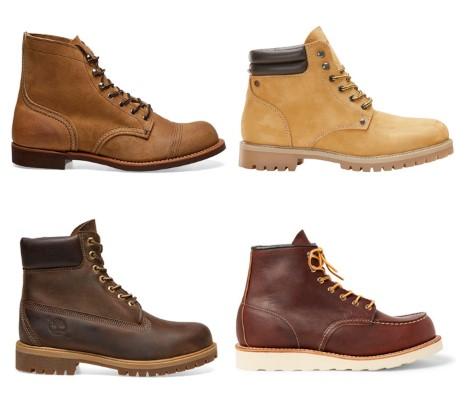 διάφορες μπότες εργασίας