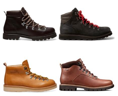 διάφορες μπότες ορειβασίας