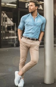 παντελόνι chinos με μοκασίνια