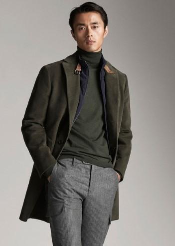 πράσινο βελουτέ παλτό