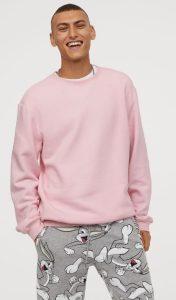 ροζ χειμερινή ανδρική μπλούζα