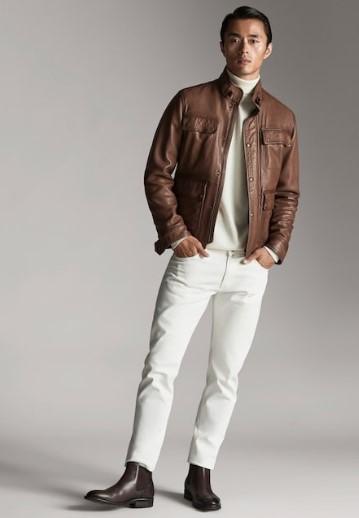ταμπά δερμάτινο jacket Napa