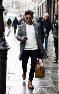 τζιν παντελόνι με καφέ ψηλές μπότες