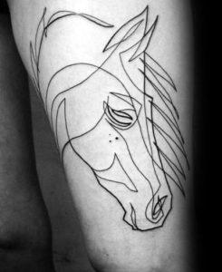 άλογο στο μπούτι