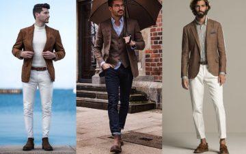 προτάσεις σε outfits με καφέ σακάκι