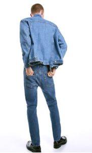 ανοιχτό μπλε jean