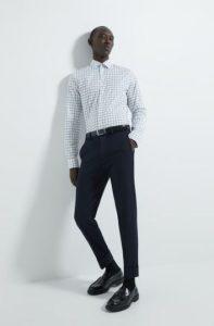 άσπρο καρό πουκάμισο