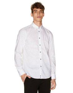 άσπρο πουκάμισο ρούχα Benetton χειμώνα