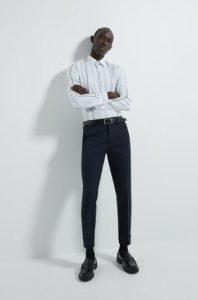 άσπρο ριγέ πουκάμισο