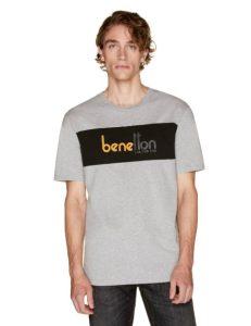 t shirt γκρι benetton logo