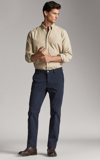 μπλε chino παντελόνι regular-fit