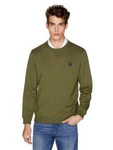 χακί φούτερ μπλούζα ρούχα Benetton χειμώνα