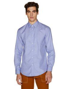 μπλε πουκάμισο απλό ρούχα Benetton χειμώνα