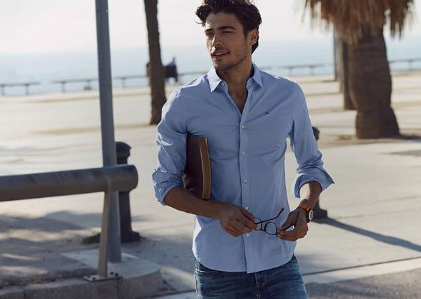 ανδρικό μπλε πουκάμισο