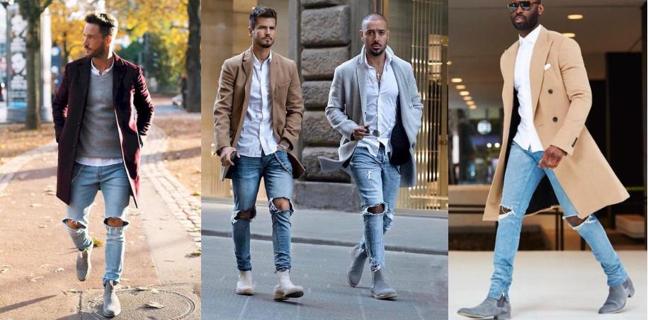 outfits για να επιλέξεις με τα γκρι σουέντ chelsea μποτάκια σου