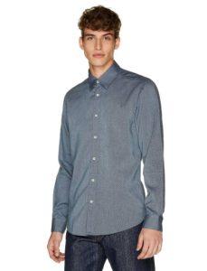 γκρι πουκάμισο ρούχα Benetton χειμώνα