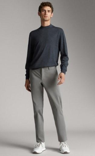 γκρι slim-fit chino παντελόνι