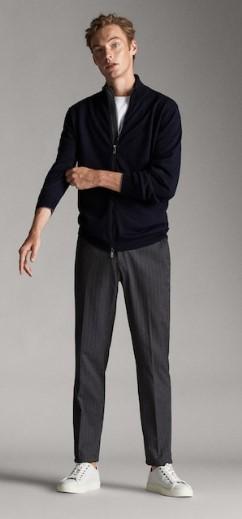 γκρι tailored παντελόνι