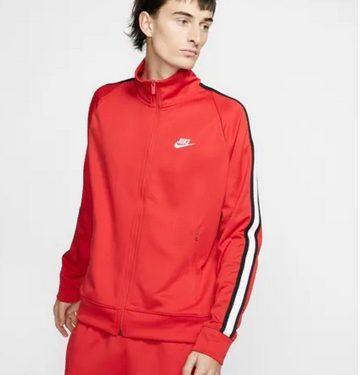 jacket κόκκινο με άσπρες ρίγες