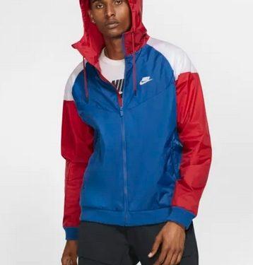 jacket με κουκούλα μπλε κόκκινο