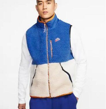jacket μπλε άσπρο fleece