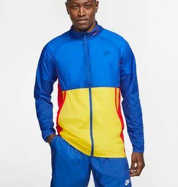 jacket μπλε κίτρινο στενή γραμμή